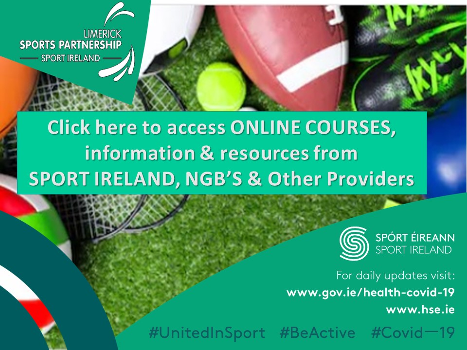 Online Courses, Information, and Resources from SPORT ireland, NGB's, and Other Providers