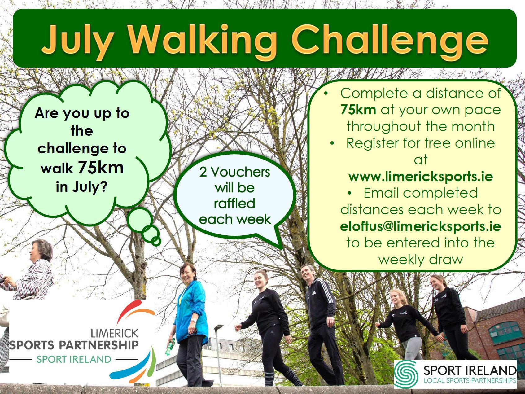 July 2020 Walking Challenge