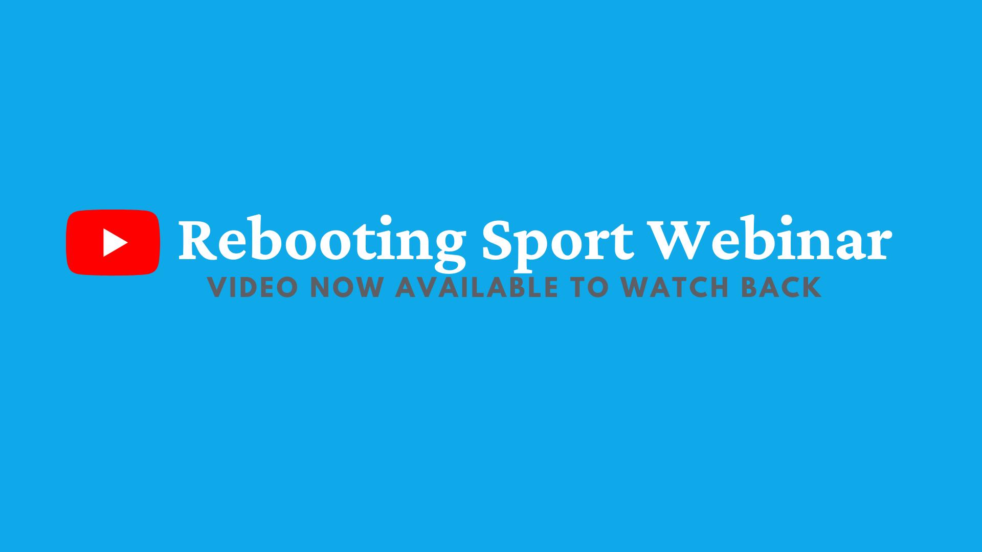 Rebooting Sport